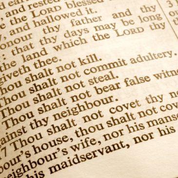 Siblings and the Ten Commandments