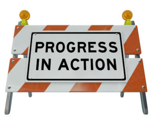 Progress in Action Road Barricade Improvement and Change