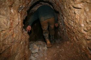 miner underground tunnel