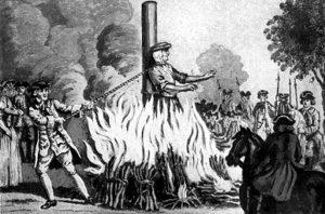 burned at stake