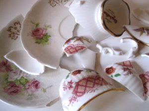 broken teacup fine china