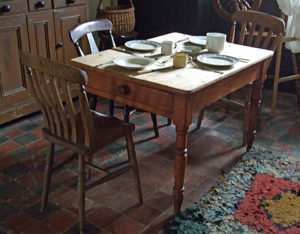 old 1800s kitchen dining room table
