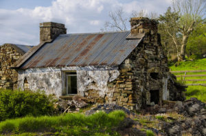 poor irish cottage
