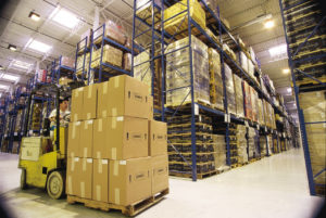 large warehouse shipment